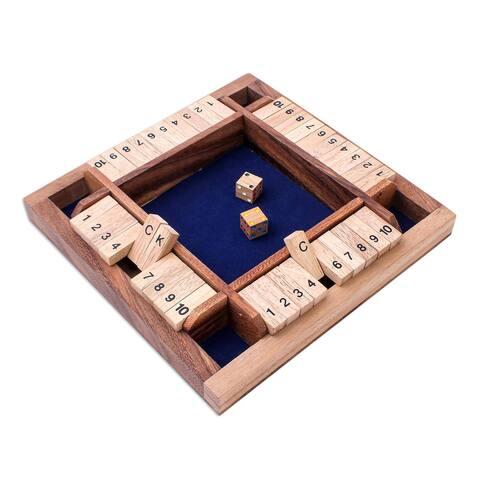 NOVICA Shut The Box, Wood game