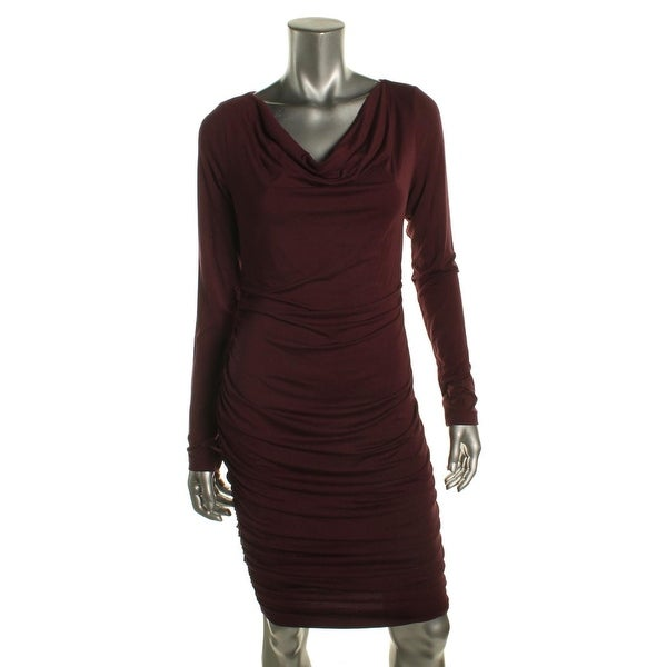 9e76c5b6d901e Shop Patty Boutik Womens Maternity Dress Ruched Cowl Neck - M - Free  Shipping On Orders Over  45 - Overstock - 19500938