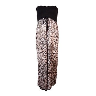 Raviya Women's Strapless Chiffon Wrap-Front Swim Cover