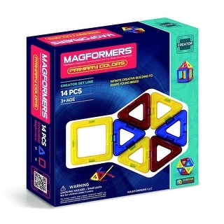 Magformers Primary Colors 14-Piece Building Set
