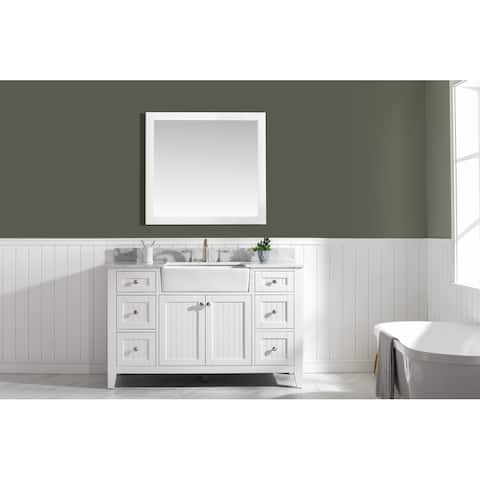 "Burbank 54"" Single Vanity in White"