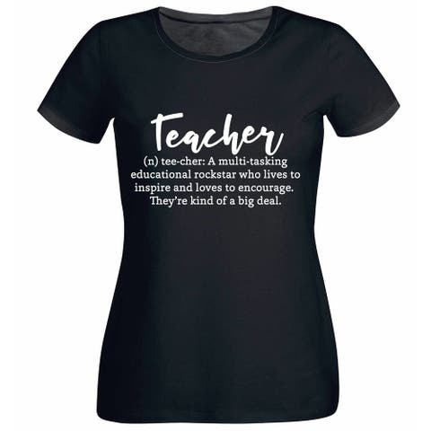 Teacher Definition Women's Black T Shirt with Saying