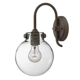 Hinkley Lighting 3174 1 Light Indoor Wall Sconce with Clear Globe Shade from the Congress Collection