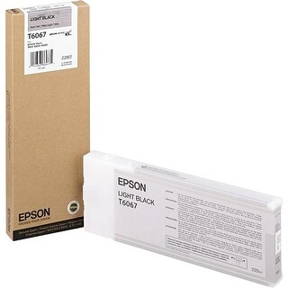 Epson UltraChrome K3 Ink Cartridge - 220ml Light Black (T606700)