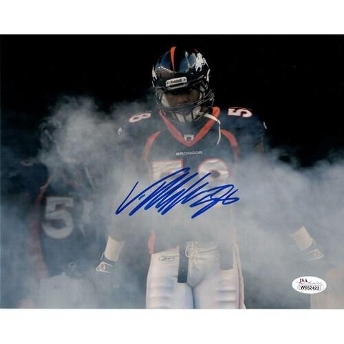 Von Miller Autographed Denver Broncos 8x10 photo Horizontal smoke JSA