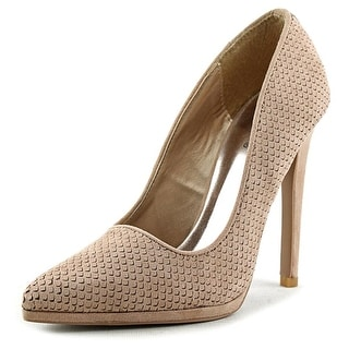Qupid Virtue-72 Pointed Toe Synthetic Heels