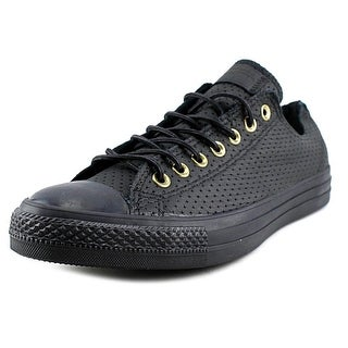 Converse Chuck Taylor All Star Ox Youth Round Toe Canvas Black Sneakers