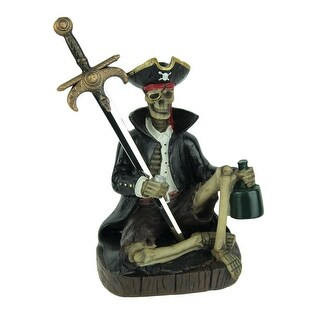 Mail Raider Pirate and Sword Letter Opener Desk Accessory - Black