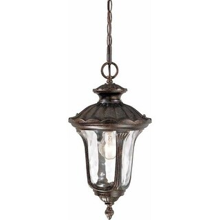 "Volume Lighting V8464 Tavira 1 Light 19"" Height Outdoor Pendant with Water Glass"
