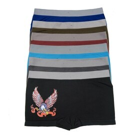 Boys 6 Pack Seamless Eagle Print C Boxer Briefs