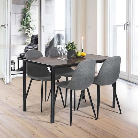 47'' Wood Dining Table In Iron Legs