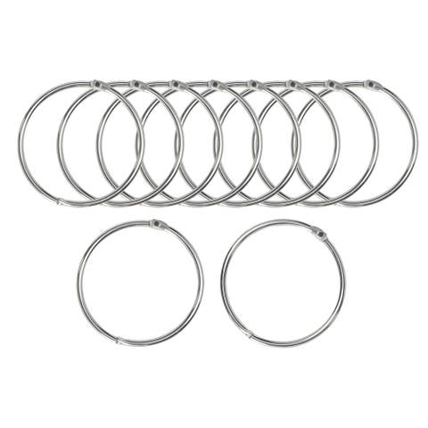 """10Pcs Metal Curtain 1.3""""Snap Joint Drape Loops for Bathroom Curtain Rods - Silver Tone - 1.3"""""""