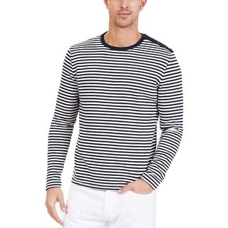 Nautica Mens Casual Shirt Knit Striped - M