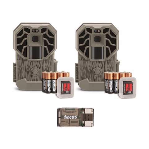 Stealth Cam G26NG Pro 12MP Trail Cameras with Batteries & Cards (2Pk)