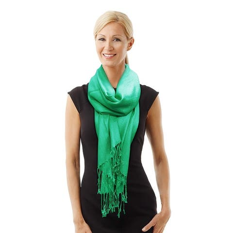 """Beautiful Solid Colors Luxurious Pashmina Scarf Perfect Party Favor - 72"""" x 27"""""""