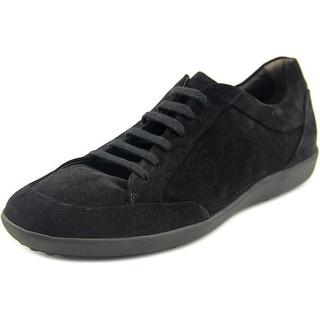 Tod's Allacciato Urbano Sportivo PF Men Round Toe Suede Black Sneakers