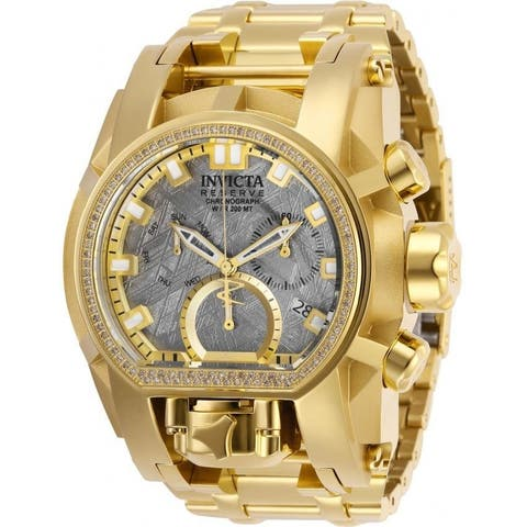 Invicta Men's 28414 'Reserve' Gold-Tone Stainless Steel Watch - Grey
