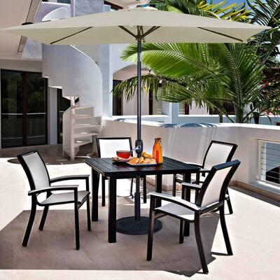 Bonosuki 10 x 6.5ft Patio Rectangular Umbrella with Tilt and Crank