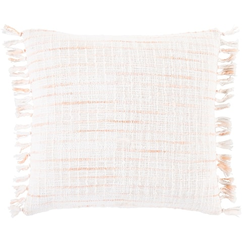 Selah Striped Fringe Throw Pillow