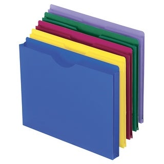 Esselte Pendaflex Polyethylene Expanding File Jacket, 8-1/2 X 11 in, , 1 in Expansion, Assorted Color, Pack of 10