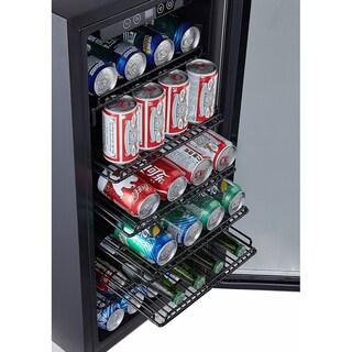 Phiestina PH-CBR100 106 Can Beverage Cooler Stainless-Steel Door with Handle