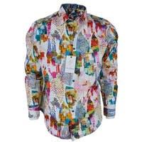 Robert Graham AVIAN Abstract Print Cotton Classic Fit Sports Shirt