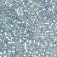 Miyuki Delica Seed Beads 15/0 Transparent Light Blue AB DBS110 4 GR