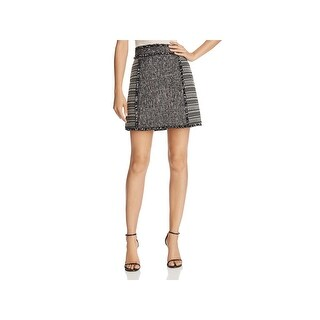 French Connection Womens A-Line Skirt Pixel Mix Fringe