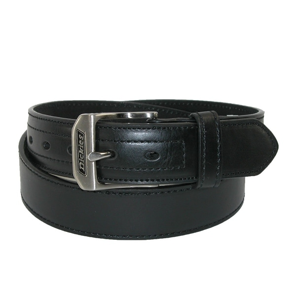 Dickies Men's Leather Logo Buckle Industrial Strength Work Belt