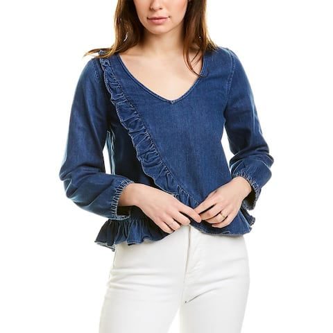 Madewell Denim Ruffle Top