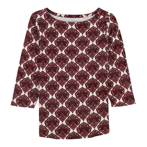 Charter Club Womens Pima Pullover Blouse