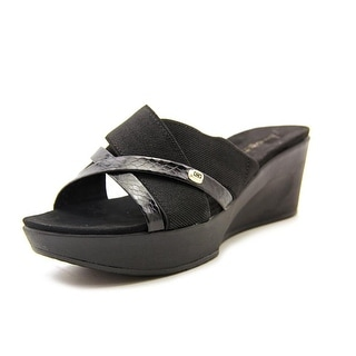 Bandolino Donovan Open Toe Canvas Wedge Sandal