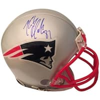 Rob Gronkowski Autographed New England Patriots Signed Football Mini Helmet PSA DNA COA 1