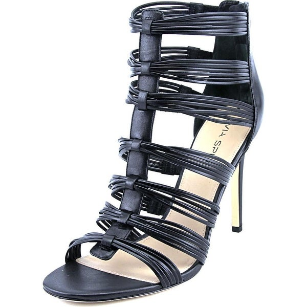 Via Spiga Terelle Women Open-Toe Leather Black Heels