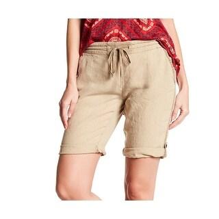 Michael Stars NEW Khaki Beige Womens Size XS Drawstring Bermuda Shorts