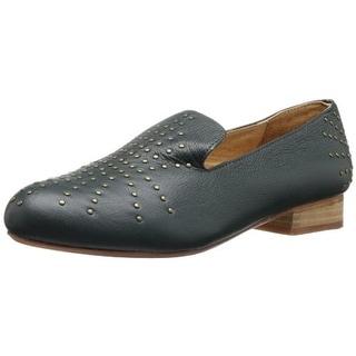 FIEL Womens Lafayette Leather Studded Smoking Loafers