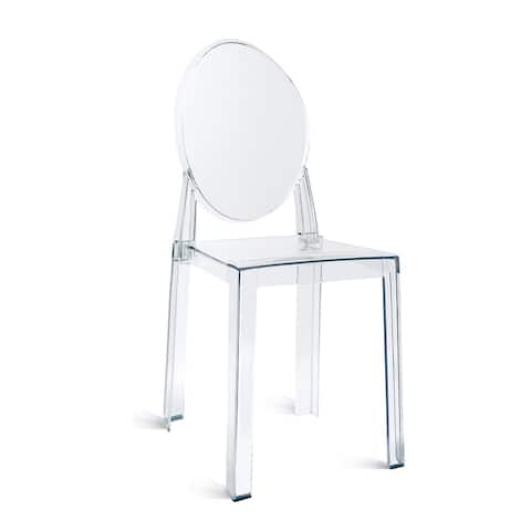 Indoor Outdoor Clear Plastic Armless Side Chairs