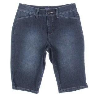 NYDJ Womens Denim Slimming Bermuda Shorts