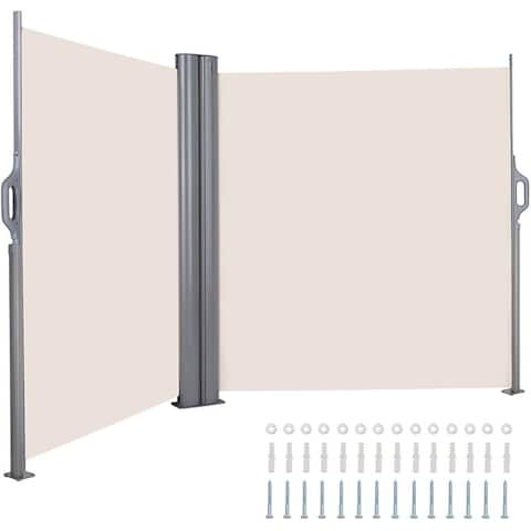 Retractable Side Awning, Double Patio Screen, Room Divider, Privacy Screen
