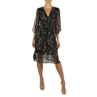 Kotore by Lola Sophie Black Floral Dress