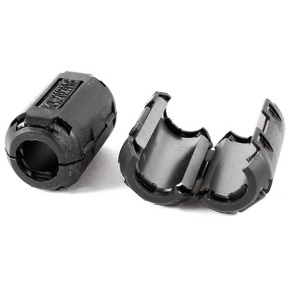 2 Pcs Black UF90B 13mm Dia Clip On EMI RFI Noise Ferrite Core Filter