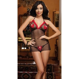 Eat Your Heart Out Babydoll With G-string, Babydoll Lingerie