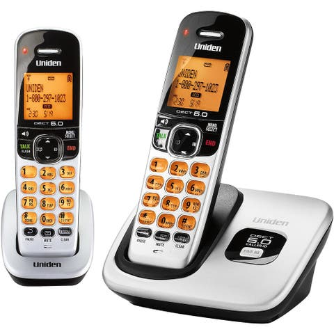 Uniden D1760-2 With Additional Battery DECT 6.0 Cordless Phone w/ 1 Extra Handset