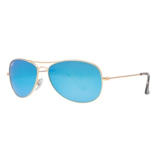 Ray Ban RB3562 112/A1 Gold Blue Mirror Chromance Polarized Aviator Sunglasses - 59mm-14mm-140mm