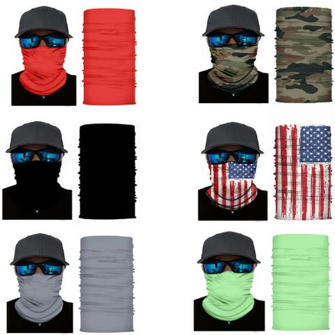 Mechaly Face Cover Neck Gaiter with Dust and Sun UV Protection - One Size Fits Most