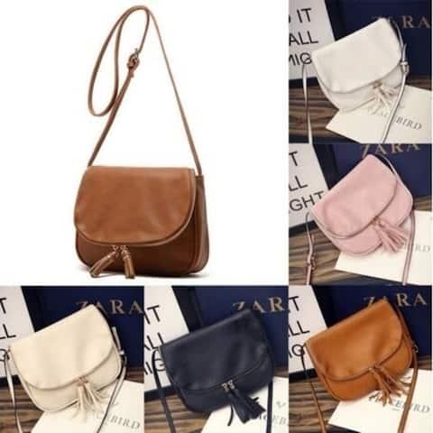 Women Leather Handbag Messenger Crossbody Shoulder Bag