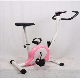 Home Gym Portable Upright Stationary Belt Exercise Fitness Bike Cycle Bicycle Pink