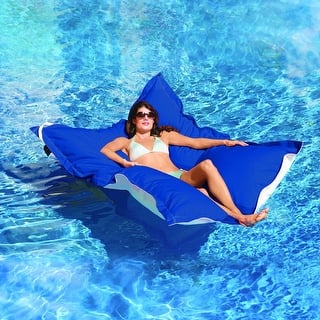 "King Kai Floating Pacific Blue Oversized Pool Float 72"" Long x 58"" Wide