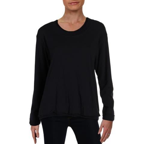 Wilt Womens Sweatshirt Rolled Edge Long Sleeves