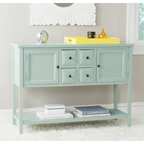 "SAFAVIEH Charlotte Celadon Storage Sideboard - 45.7"" x 15"" x 34"""